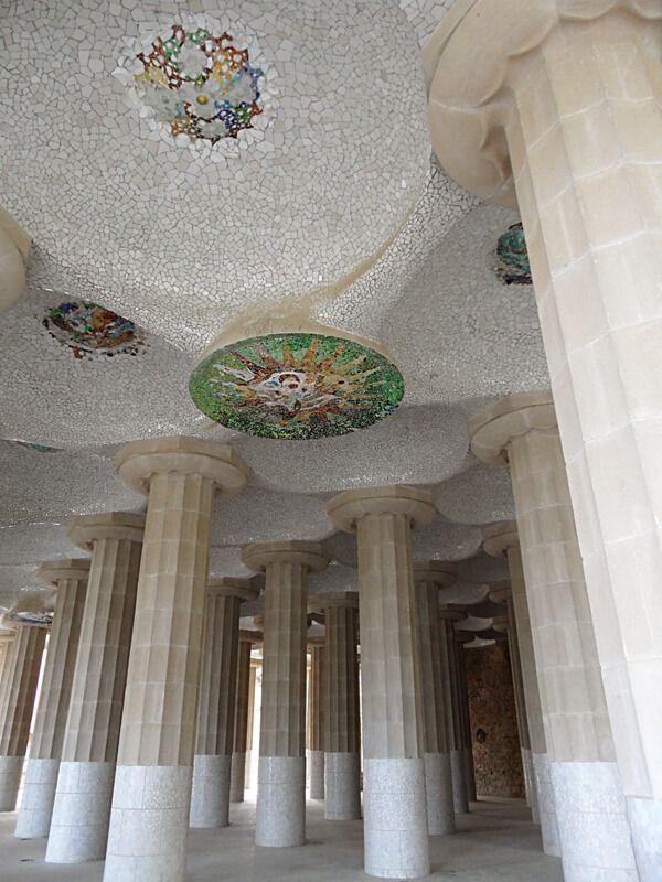 The Park Güell and the Sagrada Familia
