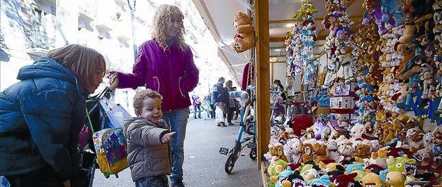 Gran Via Christmas fair in Barcelona