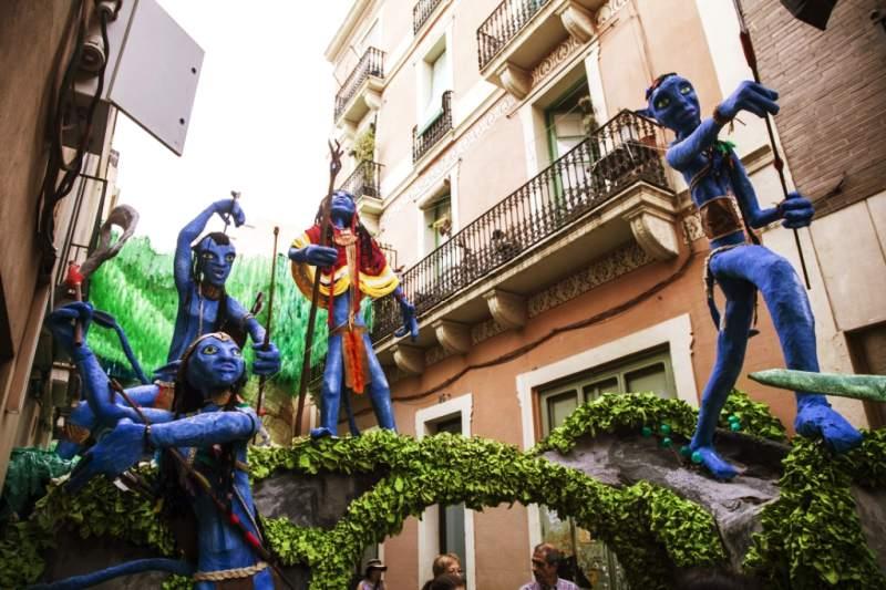 Gracia festival in Barcelona